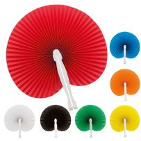 Pack of Ten Handheld Paper Fans
